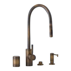 Waterstone - Waterstone Positive Lock Pulldown Kitchen Faucet-4 Piece Suite - 5400-4 - Positive Lock Pulldown Kitchen Faucet-4 Piece Suite