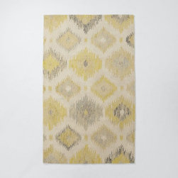 Blur Ikat Rug, Citron - Ikat rugs will never go out of style, and I love the light yellow tones in this one.