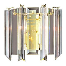 Trans Globe Lighting - Trans Globe Lighting 7162 Two Light Up Lighting Wall Sconce from the Back to Bas - Two light up lighting wall sconce featuring acrylic beveled glassRequires 2 40w Candelabra Base Bulbs (Not Included)