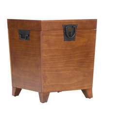 Holly & Martin - Dorset Trunk End Table, Oak - Neat and functional, this handy wooden side table and trunk hides your clutter in a jiffy and never complains about feeling too stuffed. Such a good little table.