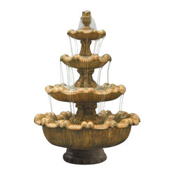 Italian 4-Tier Garden Fountain, Autumn Leaf - Want a worthwhile investment that will greatly add aesthetic value to your outdoor scenery? With the Italian 4-Tier Garden Fountain, you'll be able to create a sense of classiness and serenity in your garden. It will last for years to come and will surely be adored by your family and friends.