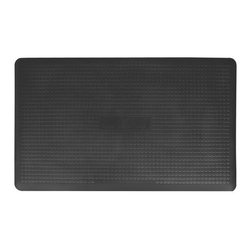 Wellness Mats - Wellness Mats Maxum MXR35 Anti Fatigue Mat Multicolor - MXR35BLK - Shop for Safety Supplies from Hayneedle.com! The Wellness Mats Maxum MXR35 Anti Fatigue Mat provides maximum comfort and is guaranteed to last. The polyurethane anti-fatigue mat is ergonomically engineered and medically proven to provide comfort and support while you stand. The door mat is designed to last as it is puncture- and heat-resistant and the edges will never curl. It also has a no-trip beveled edge. The anti-microbial mat is easy to wipe clean. Available in black. Dimensions: 36L x 24W x 0.625H inches.