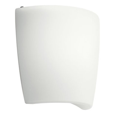 KICHLER - KICHLER Energy Efficient Contemporary Wall Sconce X-HW98601 - The contemporary style of this energy efficient Kichler Lighting wall sconce features a clean White finish that blends seamlessly into the clean tones of the satin etched cased opal glass shade.