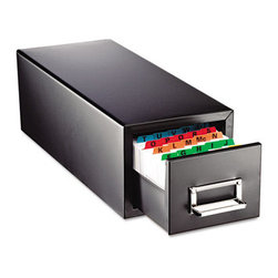 MMF POS - Drawer Card Cabinet Holds 1,500 3 X 5 Cards, 7 3/4 X 18 1/8 X 7 - All-steel cabinet with follower blocks. Drawers have combination label holders and pulls. Units are stackable for increased storage. Non-mar feet won't slip. Card Holder Type: Card File With Pull Drawer; Card Capacity: 1,500; For Card Size: 3 x 5.