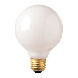 Bulbrite - Globe E26 Medium Base Light Bulbs in White - Choose Wattage: 40wOne pack of 12 Bulbs. G30 incandescent type bulb. Dimmable. EISA compliant. Voltage: 125 V. Average hours: 3000. Color rendering index: 100. Beam spread: 360 degree. Color temperature: 2700K. Ideal for use in vanity, pendants and down lights. 25 watt lumens: 175. 40 watt lumens: 355. 60 watt lumens: 640. 100 watt lumens: 950. 3.75 in. Dia. x 5.13 in. H