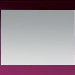 "Viena 39"" wall mirror. Rasperry - Viena mirror 39"". Aubergine gloss."