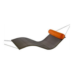 Urban Balance Wave - This hammock has funky curved lines and is breathable to boot. The addition of a colorful pillow is both functional and attractive. The fact that it comes in multiple colors means you can find one to fit in with your decor.