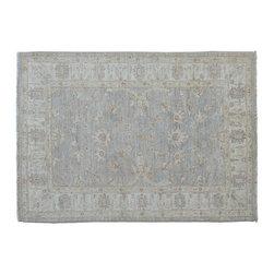 1800-Get-A-Rug - Oriental Rug Hand Knotted Rug Stone Wash Peshawar Sh9549 - About Oushak and Ziegler Mahal