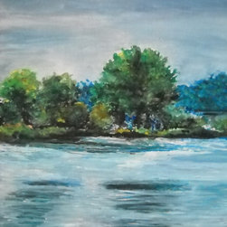"""Rock Cut State Park, Original, Painting - Bask in your """"happy place"""" as you look at this painting of Rock Cut State Park. The magnificent retreat is ingeniously captured in this watercolor by artist Emily Farmer."""