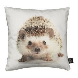 By Nord Copenhagen - Baby Hedgehog Kids Cushion - Hello Baby Hedgehog! An adorable kids cushion with a digital print of a Baby Hedgehog in By Nord's recognized cotton canvas quality fitted with a hypoallergenic fiber cushion.