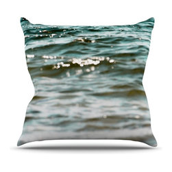 "Kess InHouse - Debbra Obertanec ""Turquoise Blue"" Green Water Throw Pillow (18"" x 18"") - Rest among the art you love. Transform your hang out room into a hip gallery, that's also comfortable. With this pillow you can create an environment that reflects your unique style. It's amazing what a throw pillow can do to complete a room. (Kess InHouse is not responsible for pillow fighting that may occur as the result of creative stimulation)."