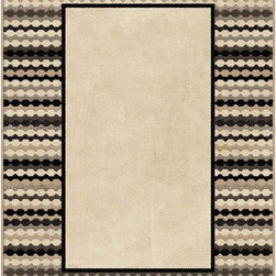 Orian - Orian Nuance Newport Border (Lambswool) 8' x 11' Rug - Rich blend of organic colors makes this collection a design statement for any casual decor.