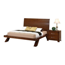 """Acme - 5-Piece Galleries Collection Oak Finish Wood Queen Platform Bed Set - 5-Piece Galleries collection oak finish wood queen platform bed set with panel headboard and footboard with curved legs. This set includes the queen bed set, one nightstand, dresser, mirror and chest. Queen platform bed set with panel headboard and footboard with curved legs. Nightstand measures 27"""" x 17"""" x 24"""" H. Dresser measures 63"""" x 17"""" x 36"""" H. Mirror measures 45"""" x 41"""" H. Chest measures 37"""" x 17"""" x 50"""" H. Some assembly may be required. Eastern king available at additional cost."""