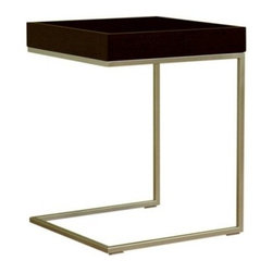 Baxton Studio Meritage Accent Side Table - Black Oak - Simple yet stylish, the Baxton Studios Meritage Accent Side Table - Black Oak offers the perfect place for drinks, books, snacks, and decor items. It features durable oak wood construction with a classic black finish. The steel frame provides stability, while the streamlined silhouette and clean, crisp lines lend a fresh, modern look to your space.About Baxton StudiosThis item is designed and manufactured by Baxton Studios, a furniture company based near Chicago. A lot goes into the making of Baxton Studios furniture, and it all starts with attention to details. They hand select their unique line of leather and micro-fiber fabrics. Their furniture is padded with high polyurethane foam to create the body contouring comfort and support for which Baxton Studios is famous. All frames are constructed of high quality wood or steel on select models, providing sturdy frame construction that exceeds industry standards. Baxton Studios is committed to constantly providing stylish and unique furniture for the best value to help you create a comfortable living space with ease and confidence.