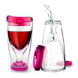 Adnart - Ice Vino 2 Go, Pink - Chill your wine in the actual cup while you are sipping!