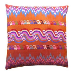 ImperioJP - Burmese Silk Sarong Pillow| Zig Zag Swirl - How to describe the indescribable These are made from 10 ply Burmese