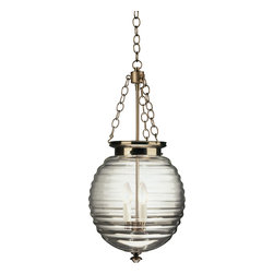 Robert Abbey - Beehive Pendant Pendant, Dark Antique Nickel w/ Clear Glass - You'll get a buzz out of this pendant lamp. Its namesake shade — the beehive — has a fabulously fun shape that will add a touch of whimsy over your kitchen or dining table. You can even place in foyer to lighten things up.