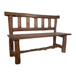 Groovystuff - Groovystuff Rocky Mountain Garden Bench in Honey - Features: