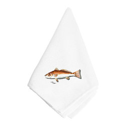 Caroline's Treasures - Red Fish Napkin 8489NAP - Red Fish Napkin 8489NAP Dinner Napkin - 100% polyester - wash, dry and lay flat.  No ironing needed.  20 inch by 20 inch