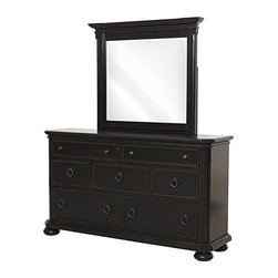 Yardley Cherry Dresser & Mirror - Features: