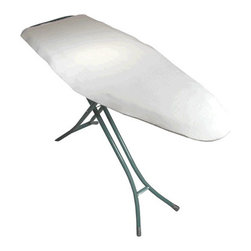 The Felt Store - White Polyester Ironing Board Pad 54 x 18 x 0.25 Inch - Our Iron Board Pad is a thick rectangular piece that can be cut down to size to fit perfectly under your iron board cover. A thin pad causes the gridlines to show through ironed garments, the Iron Board Pad Improves your ironing experience by easily eliminating wrinkles and the gridlines leaving you with a more professional finished ironed garment. The best way for the pad to fit on your iron board is to lay the pad on the floor. Put your ironing board on it (upside down) and either use a sharp utility knife to cut out the shape or use a sharpie/pen/pencil and trace the shape and cut with utility knife. Please note the iron board is not included and this is not a cover but a pad to put underneath an iron board cover. Made of polyester felt, 54 inches x 18 inches x -_ inch thick and 24 oz/sq. yd.
