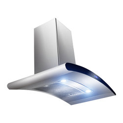 "AKDY - AKDY AK-Z198KN3 Euro Stainless Steel Wall Mount Range Hood, 30"" - Stylish and practical, the 30"" AKDY 198KN3 range hood integrates perfectly into any kitchen design. The centrifugal fan efficiently removes cooking vapors and smoke while the dual LED lights provide exceptional task lighting while cooking. Complete with durable stainless steel mesh filters which are dishwasher safe for easy cleaning."