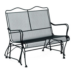 Woodard - High Back Gliding Loveseat - Tucson - All products are made to order. Orders cannot be cancelled after 5 calendar days. If order is cancelled after 5 calendar days, a 50% restocking fee will be applied. Wrought Iron frame