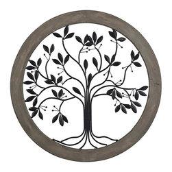 Joshua Marshal - Rossington-Circular Wall Panel With Tree Of Life - Rossington-Circular Wall Panel With Tree Of Life