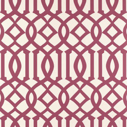 Imperial Trellis Wallpaper - Kelly Wearstler may have moved on to Bravura Modern territory (we love her new wallpapers too), but Imperial Trellis shows no sign of waning in popularity. Why not try it in something besides green? There are a slew of fun color combinations available, including glossy metallics.