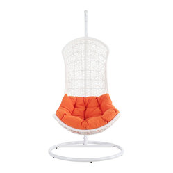 The Endow Rattan Outdoor Wicker Patio Swing Chair Set