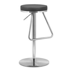 Zuo Modern - Zuo Modern Soda Modern Barstool X-052003 - The Soda barstool has an adjustable stainless steel frame and a plush seat wrapped in either black, white or espresso leatherette. Stay nostalgic with our Soda barstool.