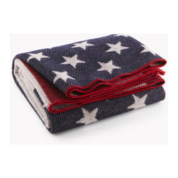 Origin Crafts - American flag wool throw - American Flag Wool Throw We?re proud to produce all our goods under one roof right here in the heartland of The United States of America. The American Flag throw combines comfort and patriotism in one plush yet durable keepsake. The surprisingly deep, bold colors and vivid patterns are made possible