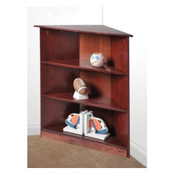 Gift Mark 3 Tier Corner Bookcase - A helpful organization piece the Gift Mark 3 Tier Corner Bookcase offers a unique design to display items. Its solid wood construction comes in your choice of finish option. This bookcase has a smart design that lets it perfectly fit into any corner of your home. A space-saving bookcase this one includes three open shelves for your displaying and storing needs. About Gift MarkGift Mark is a leading supplier of fine children's furniture and accessory pieces. Table and chair sets laundry hampers toy chests and bookcases Gift Mark's wide variety of products will certainly match any child's room and imagination! Some of their popular lines are Kid's Korner and Wicker Way collections.