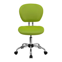 Flash Furniture - Flash Furniture Office Chairs Mesh Task Chairs X-GG-NG-F-6732-H - This value priced mesh task chair will accommodate your essential needs for your home or office space. This chair will add a splash of color to your office for a non-traditional look. Chair features a breathable mesh material with a comfortably padded seat. [H-2376-F-GN-GG]