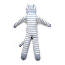 Blabla Doll Cat Cloud Mini or Large - Designed by French born artist Florence Wetterwald and hand knit by Peruvian artisans, Blabla dolls are made from natural fibers of exceptional quality grown in Peru, making this friend irresistibly soft and cuddly. The product is tested by the most stringent US and European standards and dyes used have been approved for health and safety. Care Instructions: wash on gentle cycle or hand wash in cold water and lay flat to dry.
