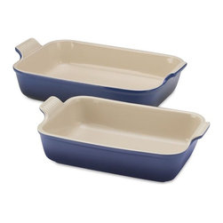 Le Creuset Heritage Stoneware Rectangular Baker - Nice large baking dishes that look gorgeous enough to go from the oven to the table keep meals simplified at clean-up time.
