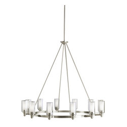 "Kichler - Kichler 2347NI Circolo Single-Tier Chandelier w/12 Lights - Stem - 45"" Wide - Kichler 2347 Circolo Chandelier"