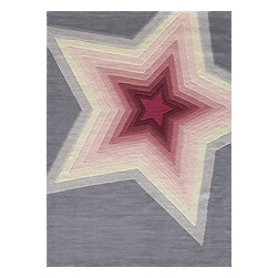 Momeni - Kids Lil Mo Hipster Area Rug, 4' x 6' - The Lil Mo Hipster area rug Collection offers an affordable assortment of Kids stylings. Lil Mo Hipster features a blend of natural Superstar color. Hand Tufted of 100% Mod-Acrylic the Lil Mo Hipster Collection is an intriguing compliment to any decor.