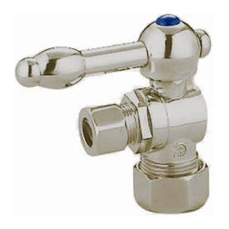 Kingston Brass - Angle Stop with 5/8in. OD Compression x 3/8in. OD Compression - The 1/4-turn angle stop valve features a unique elegant lever which controls the movement of water through and from plumbing fixtures. The valve is made of solid brass built for durability and dependability and also comes in a variety of finishes to better coordinate your kitchen/bathroom.