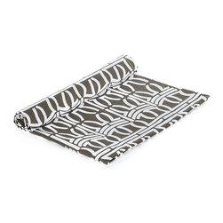 "BH Decor - Organic Cocoa & White Table Linen Napkins ( SET OF 4 ) - - 20"" square"