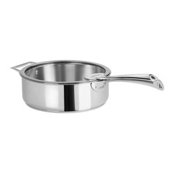Cristel - Cristel Casteline Stainless Steel 3.8-quart Sauté Pan w/Glass Lid, Fixed Handle - You'll sauté like a superstar with this top-notch pan. It's stainless steel — preferred by chefs for sealing in flavor — and boasts an ample 3.8-quart capacity.