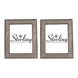 Pierced Metal Picture Frames - Set of 2 - *Dimensions: 10L x 8W x 12H