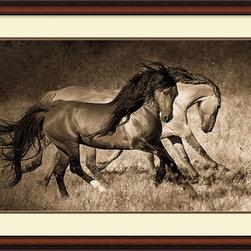 Amanti Art - Lisa Dearing 'The Dance' Framed Art Print 41 x 29-inch - Horse art