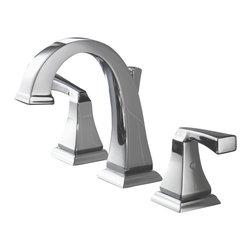 Delta Faucet Company - Delta Dryden Two Handle Widespread Lavatory Faucet, Chrome (3551LF) - Delta 3551LF Dryden Two Handle Widespread Lavatory Faucet, Chrome
