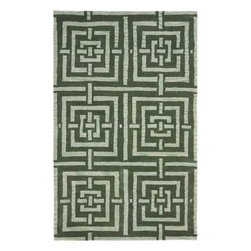 Safavieh - Peri Hand Tufted Rug, Sage 4' X 6' - Construction Method: Hand Tufted. Country of Origin: India. Care Instructions: Vacuum Regularly To Prevent Dust And Crumbs From Settling Into The Roots Of The Fibers. Avoid Direct And Continuous Exposure To Sunlight. Use Rug Protectors Under The Legs Of Heavy Furniture To Avoid Flattening Piles. Do Not Pull Loose Ends; Clip Them With Scissors To Remove. Turn Carpet Occasionally To Equalize Wear. Remove Spills Immediately. Safavieh's artistry is vividly displayed in the Wyndham collection with designs ranging from contemporary florals to traditional global motifs. Each richly-hued rug is hand-tufted by master weavers in India of top quality wool. Several designs recreate the one-of-a-kind look of fashionable over-dyed antique rugs using a special multi-colored yarn that is meticulously colored using ages-old pot dyeing techniques. After the dye is carefully applied to each strand of wool, touches of organic viscose are added for soft silky luster as special highlights accents.