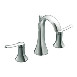 Moen - Moen TS41708 Chrome Fina Double Handle Widespread Bathroom Faucet from - Product Features:  Metal faucet body construction ensures durability and reliability for the life of the faucet Covered under Moen s limited lifetime faucet warranty Premier finishing process - finishes will resist corrosion and tarnishing through everyday use Fina proves that at times it s the quiet statements that grab the most attention, with its smooth, graceful elegance Double handle operation - handles rest on 1/4 turn valves ADA compliant - complies with the standards set forth by the Americans with Disabilities Act for bathroom faucets Low lead compliant - meeting federal and state regulations for lead content WaterSense certified product - using at least 30% less water than standard 2.2 GPM faucets, while still meeting strict performance guide lines Required valve system sold separately Designed for use with standard US plumbing connections All hardware needed for mounting is included with faucet  Product Technologies / Benefits:  M-PACT Common Valve System: This innovation from Moen gives the homeowner the up-most functionality and convenience when it comes to bathroom faucets. Designed to be a catch-all valve system, once M-PACT is installed you can upgrade the style of the lavatory or shower faucet without replacing nay of the faucet plumbing. LifeShine Non-Tarnish Finish: Moen LifeShine finishes are guaranteed not to tarnish, corrode or flake off for the duration of their life. Providing the durability and wearability of chrome in a variety of beautiful, decorator-inspired finishes. The LifeShine finish is in the surface rather than on it, resulting in color stability for a lifetime. The PVD technique used also helps to eliminate hazardous by-products during manufacturing. WaterSense/Eco-Performance: To hel