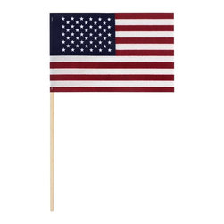 American Stick Flag - No Fray US Flag 4x6 - Handheld American Flag