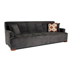 None - JAR Designs 'The Jasper' Sofa - 'The Jasper' sofa by JAR Designs features grey upholstery and a chic design. Made in the furniture district of Los Angeles, this sofa is both durable and comfortable.