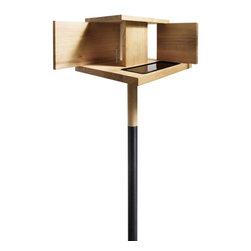 MENU - Barcelona Bird Feeder - You could add a bit of eco-chic architecture to your yard with this geometric acacia bird feeder. The wood comes from sustainable forests and the design is inspired by the Barcelona Pavilion. Why not let the birds dine in style?