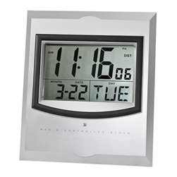 Kito - 7.5 Inch Wall Mount Atomic Alarm Clock Displays Time/Date/Day/Temp - This gorgeous 7.5 Inch Wall Mount Atomic Alarm Clock Displays Time/Date/Day/Temp has the finest details and highest quality you will find anywhere! 7.5 Inch Wall Mount Atomic Alarm Clock Displays Time/Date/Day/Temp is truly remarkable.